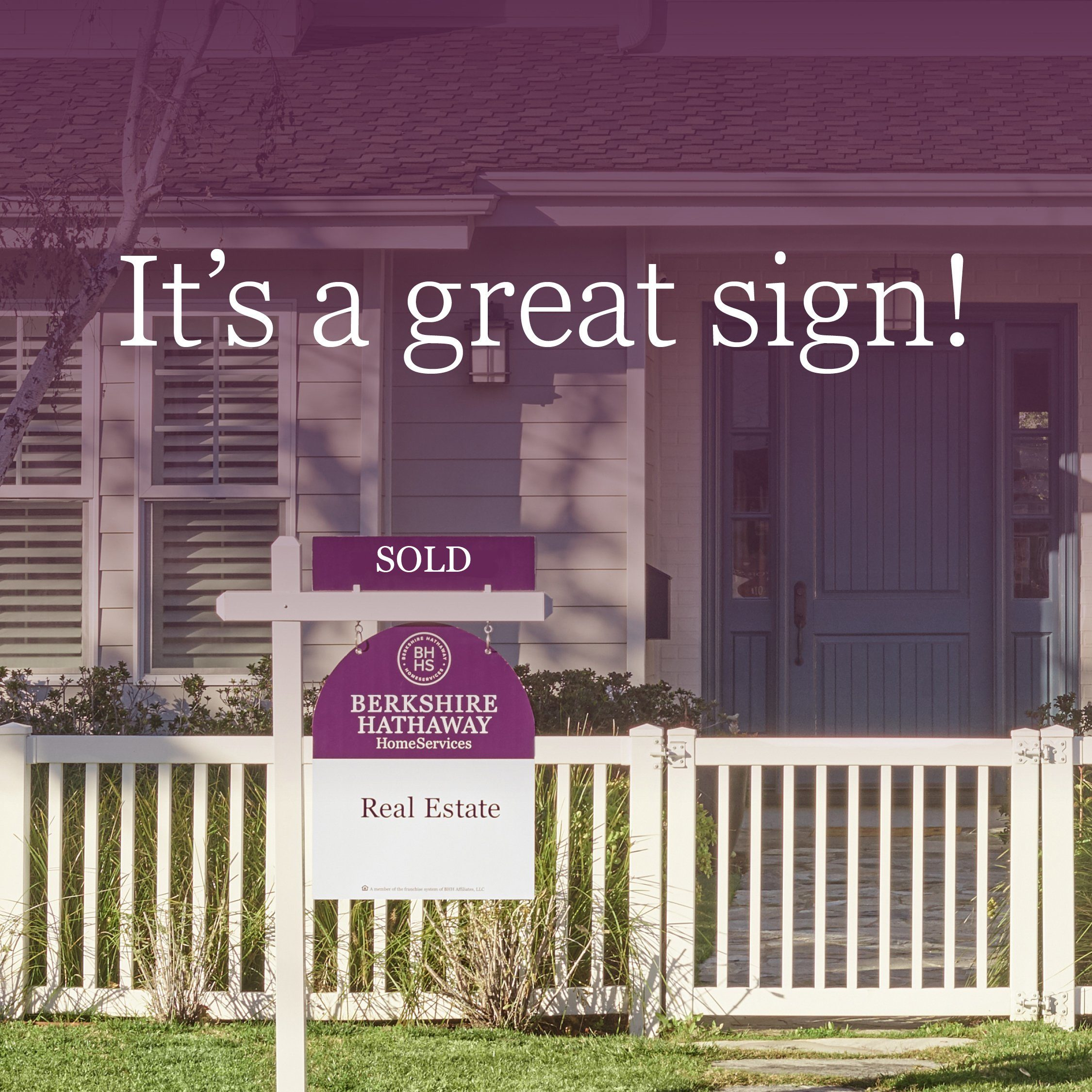 SOLD_It's a great sign! - Social Post - Cabernet & White sign
